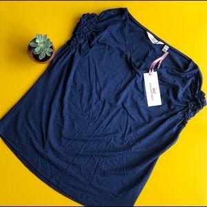 NWT- Vineyard Vines navy blue top. Size XXS
